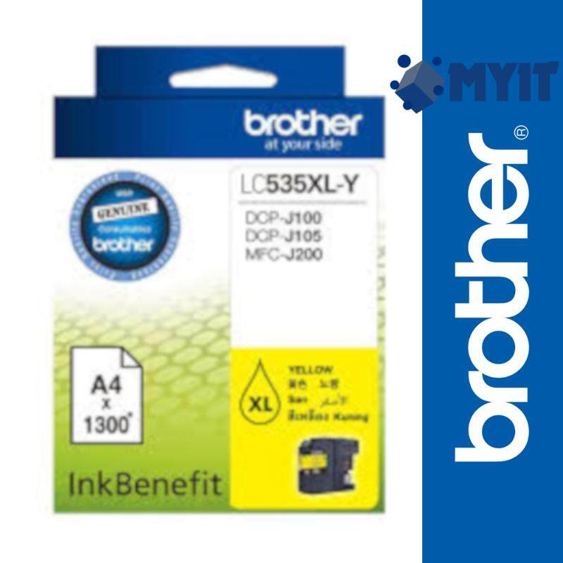 Brother Original LC-535XL Yellow Color Ink Cartridge for DCP-J100 DCP-J105 MFC-J200 LC535XL 535XL