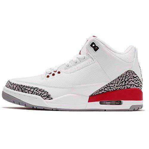 wholesale dealer be027 cc37f ... black white infrared 23 48747 9053e c647f  official store jordan mens  air 3 retro white fire red cement grey 8 m dc083 62a96