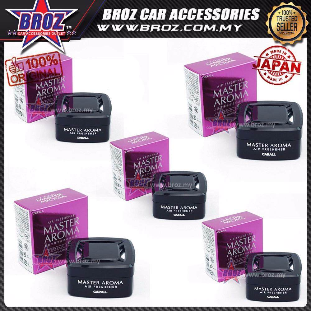 Broz 5 x Carall Master Aroma Platinum Shower Car Air Freshener Perfume 55ML