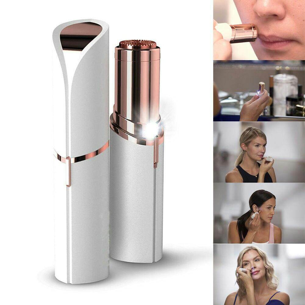 Flawless Facial Hair Remover - Professional Portable Women Facial Hair Remover Flawless Painless Electric Lady Body Epilator Lipstick Shape Shaver