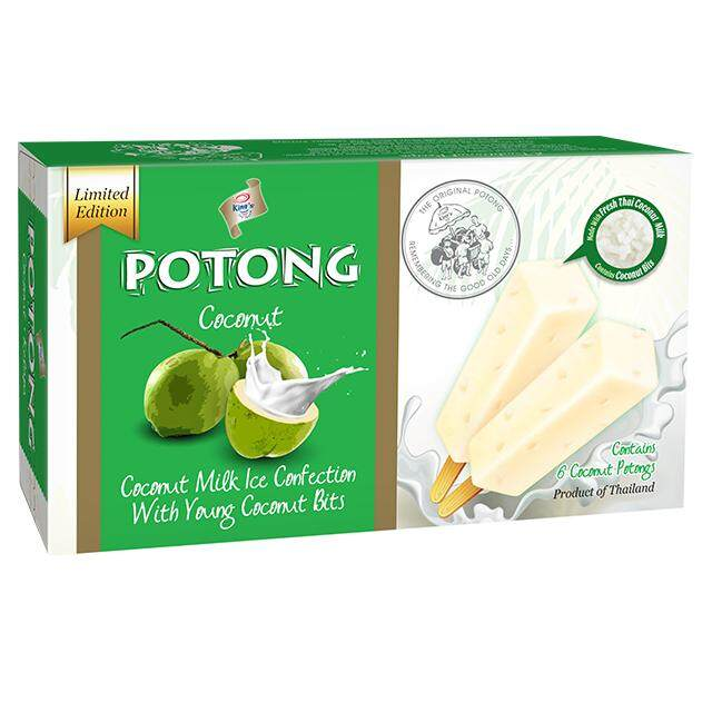 F&n Kings Potong Coconut Flavoured Ice Cream (6s X 60ml) (kl & Sl Delivery Only) By Jocom Mshopping Sdn Bhd.