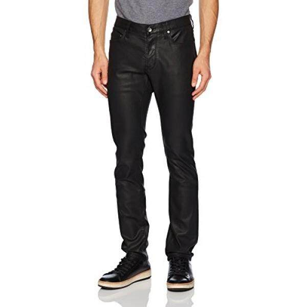 John Varvatos Mens Wight Jean, Button Fly Bhag, Black, 32