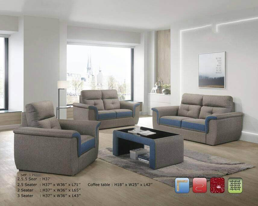 Sofa Set 2 Seater Fully Fabric Sofa/Lounge Chair/Relax Sofa/Relax Chair/ Leather Sofa/Sofa Santai With 10 Years Warranty