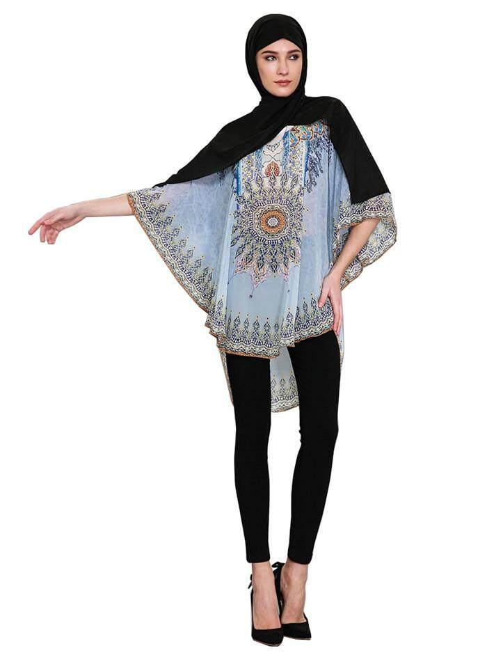 f59ee262ef9365 Chiffon Shirts Muslim Dress Flower Islamic Dresses Hijab Clothing Muslim  Abayas Dress - intl