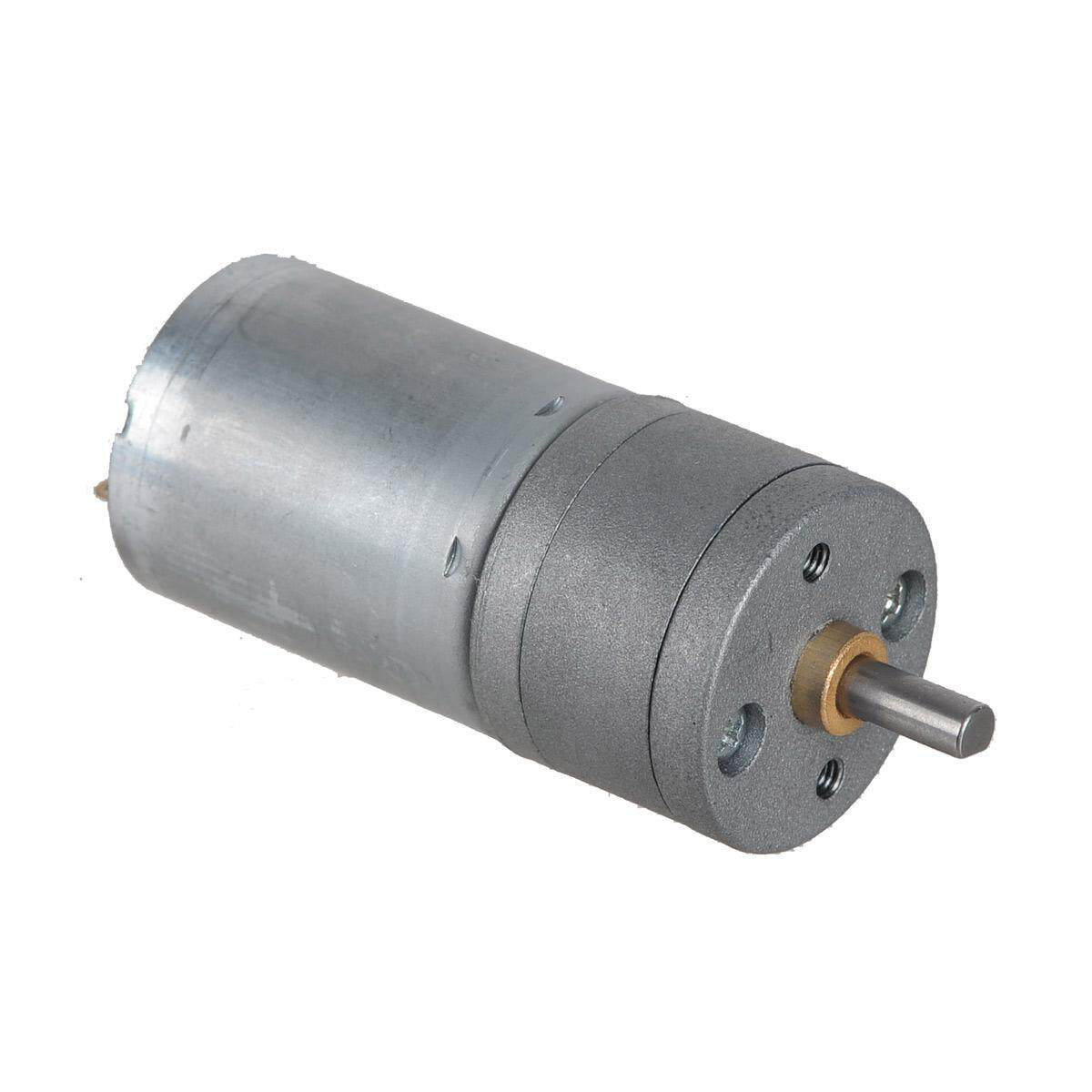 Zndiy-Bry Dc 12v 400rpm / Dc 6v 200rpm High Torque Gear Motor - Silver - Intl By Infinite-Deals