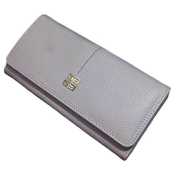 WLT-034 Norway Hubert 110 Woman Big Space Coin Card Wallet Purse [GRAY]