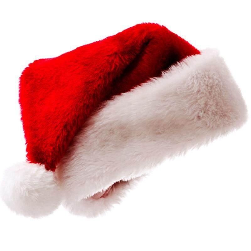 Hình ảnh Fancyqube 1 cái Chất Lượng Cao Giáng Sinh Mũ Ông Già Noel Đỏ Nón Mũ Dành Cho Người Lớn Và Trẻ Em Quà Giáng Trang Trí Năm Mới của Quà Tặng Nhà Dự Tiệc Cung Cấp