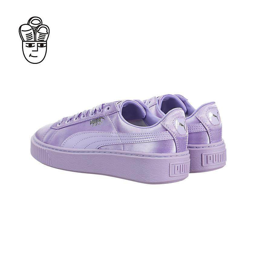 san francisco e01f8 2eca8 Puma Basket Platform Tween Lifestyle Shoes Women 36513302