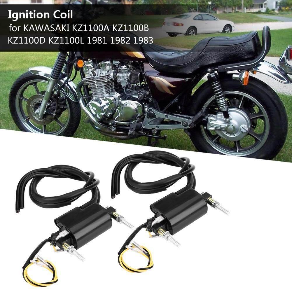 Two Double Line Ignition Coils for KAWASAKI KZ1100A KZ1100B KZ1100D KZ1100L  1981 1982 1983
