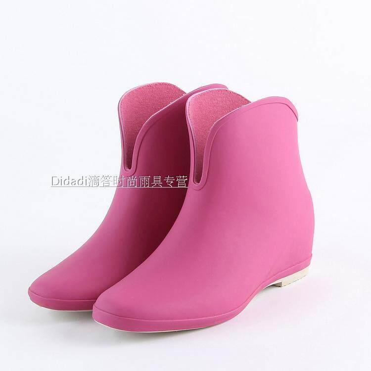 Sepatu boots hujan wanita Pendek Korea Selatan Anti Selip Jepang sepatu bot hujan murid Warna Permen