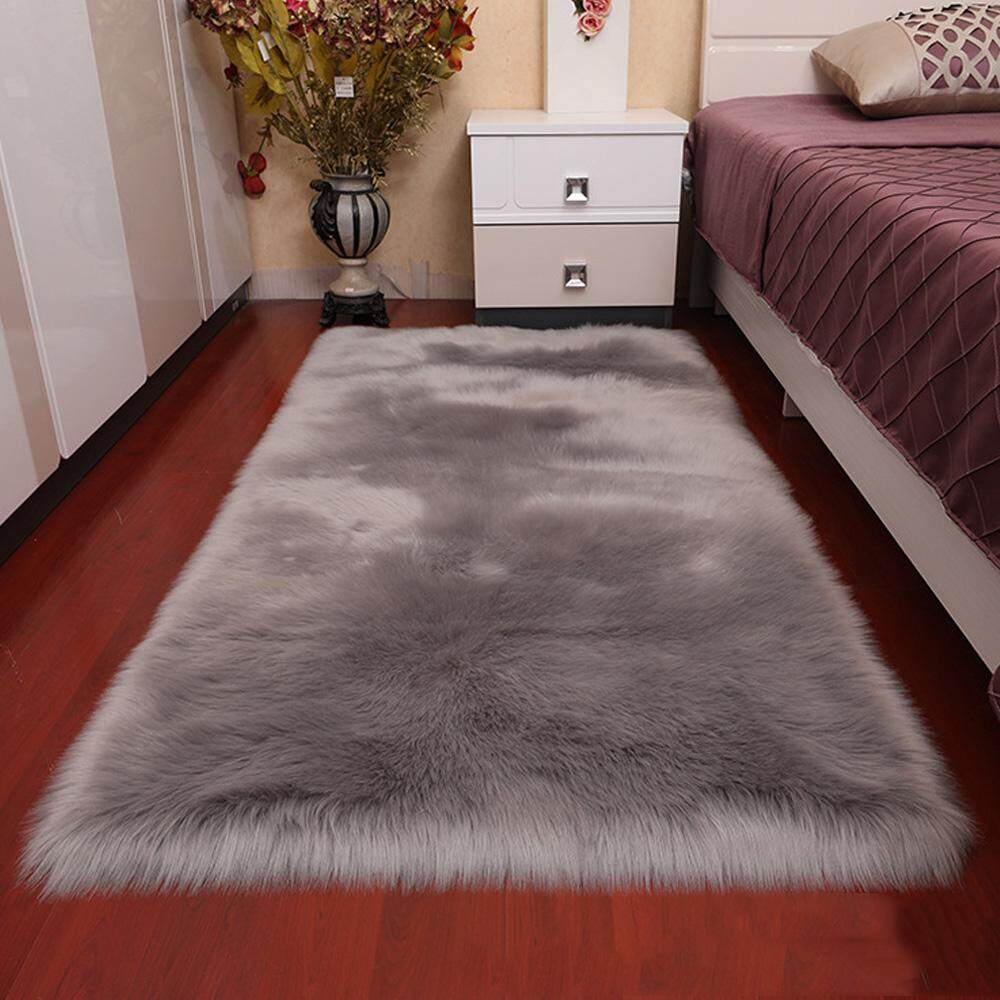 Clever Plush Round Shape Carpet Throw Rug Anti-skid Shaggy Area Rug Soft Floor Mat House Living Room Bedroom Carpet Floor Rug Power Source