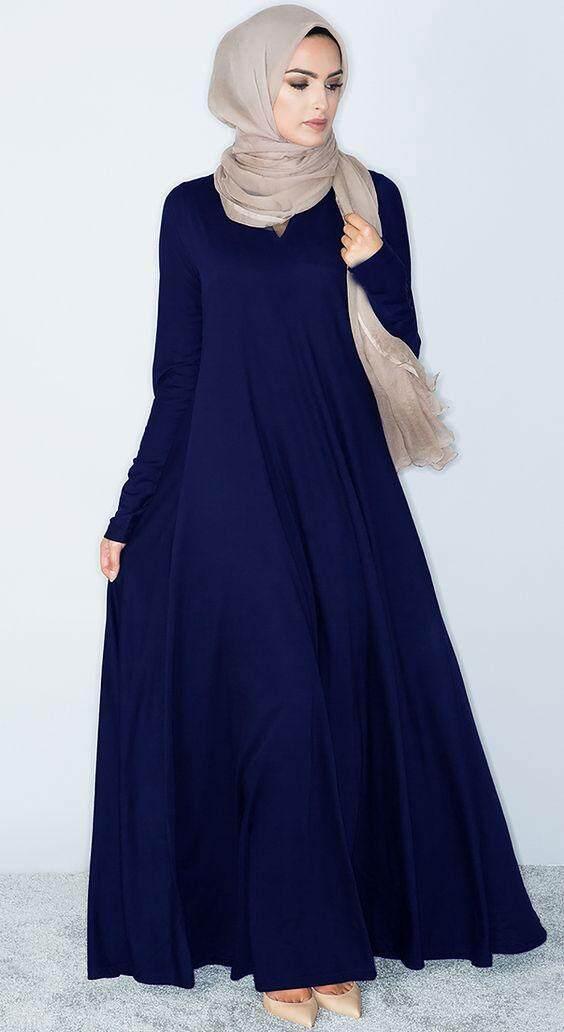 403fc7822a New Muslimah plaid long sleeve short dress Saudi Jubah Kaftan Jilbab  Islamic Dress women s mid-length Maxi DressMYR55. MYR 79