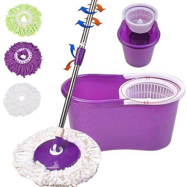 Graceful (Chỉ Có Đầu Lau) 1 Cái Hộ Gia Đình Ma Thuật Thay Thế Refill 360 ° Spin Cleaning Pad Microfiber Lau Đầu