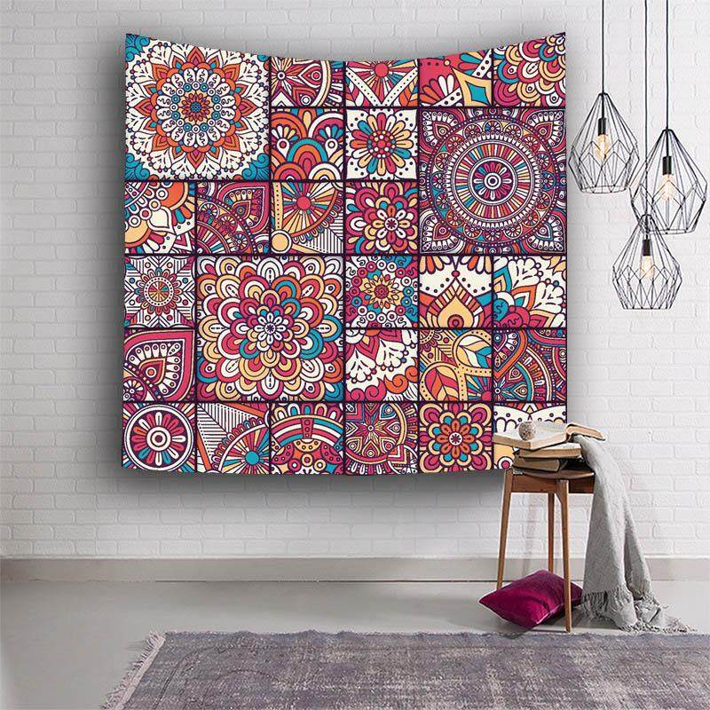 Wall Decor Hippie Tapestries Bohemian Mandala Tapestry Wall Hanging Throw Home Decor for Living Room Bedroom Dorm Room Beach Towel 203x150cm - intl