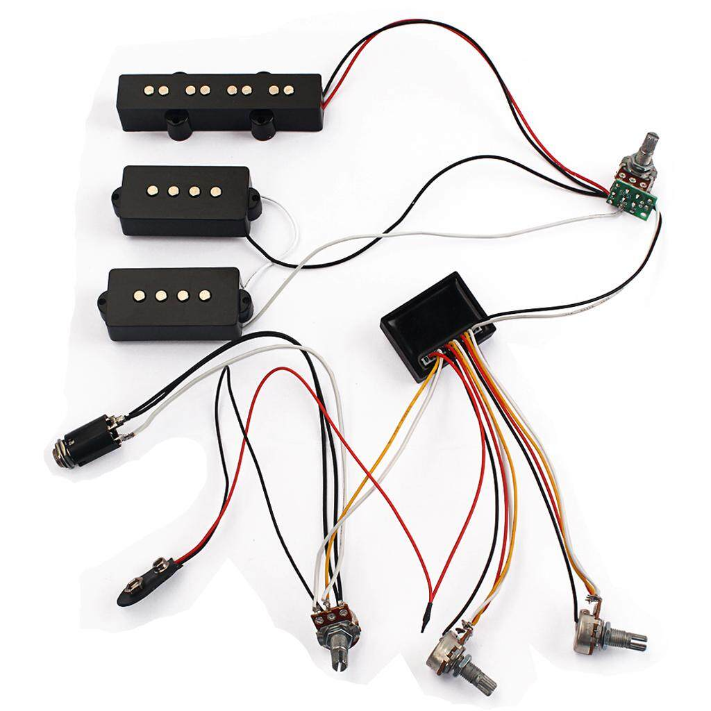 Features Miracle Shining Guitar Bass Pickup Threaded Cylinder Jack Wiring Input 3 Band Amp Eq Preamp Circuit Harness