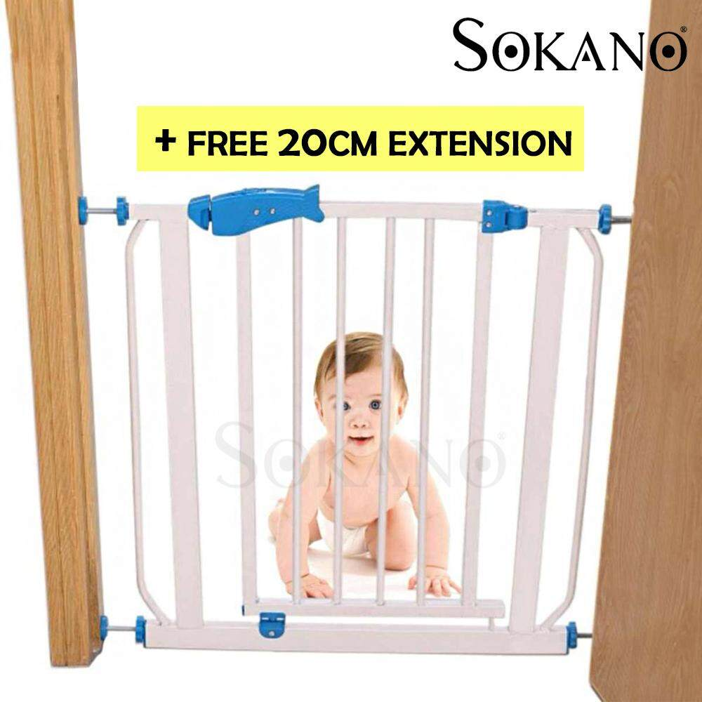 (RAYA 2019) BUNDLE Deal: Sokano Premium Safety Gate for Children And Extension Gate (71cm-95cm)