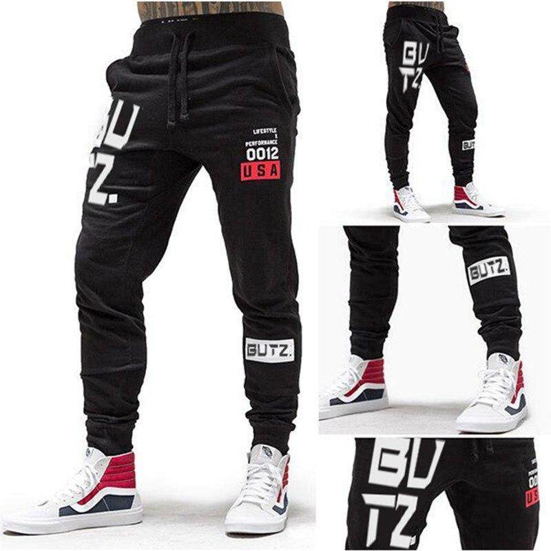 Official Website Men Gym Fitness Sweatpants Man Jogger Running Workout Training Trousers Pant Male 2019 Autumn Cotton Slim Pants Sportswear Sports & Entertainment Running