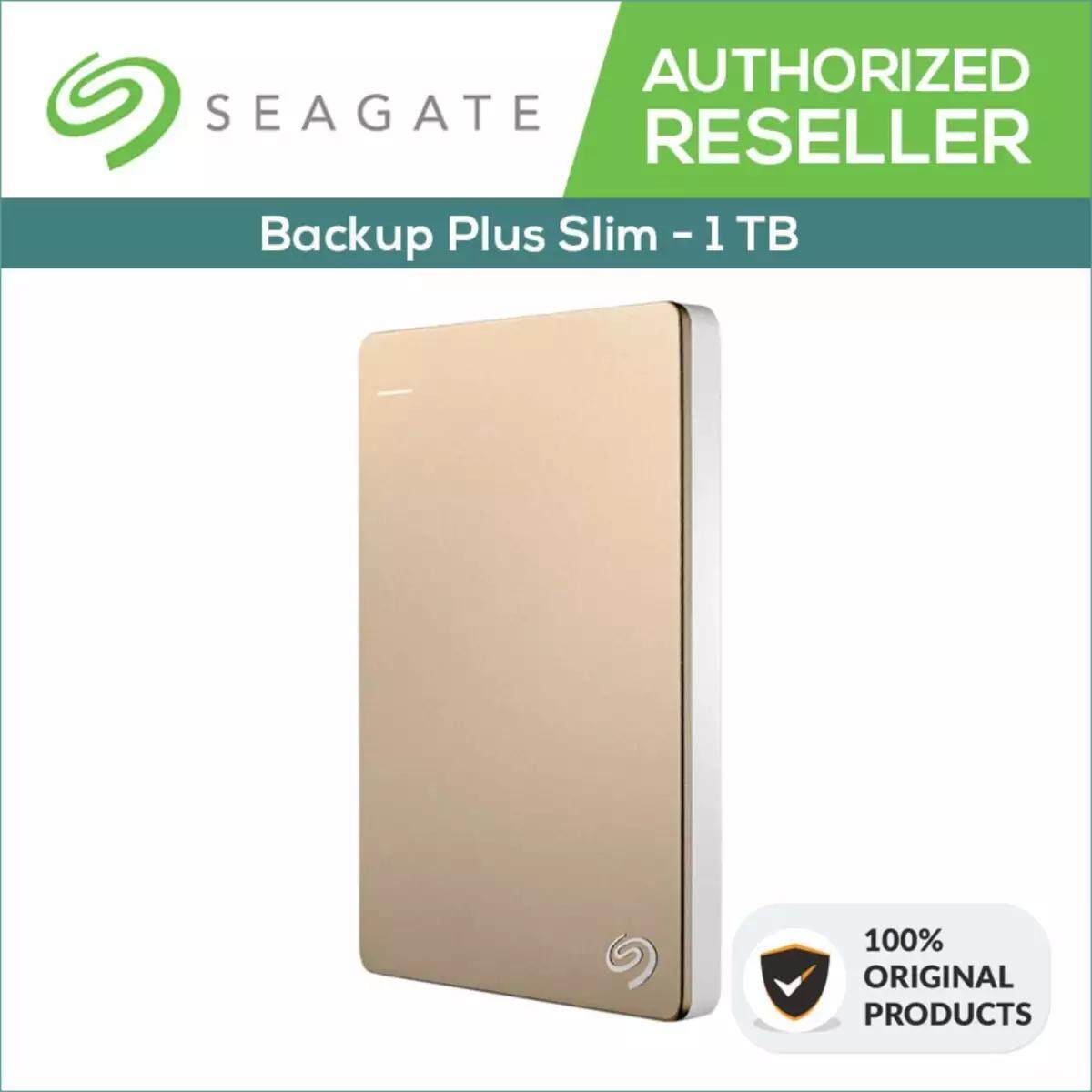 Features Seagate Hdd 1tb Backup Plus Slim Portable External Hard 2tb Hitam Dan Silver Disk Drive Gold