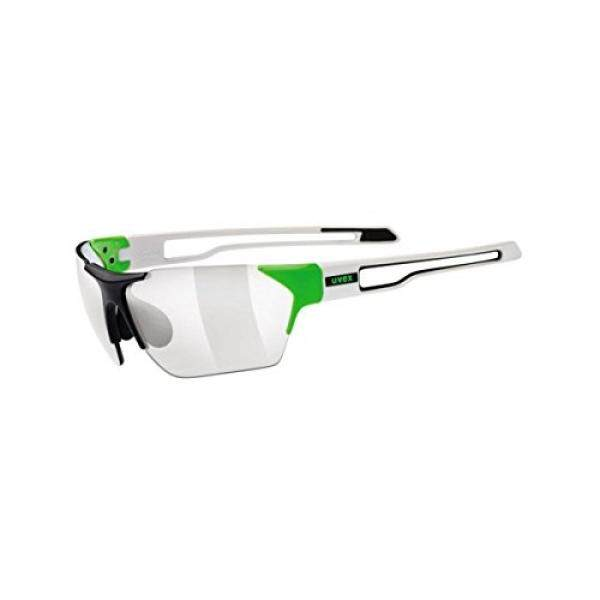 Uvex Sportstyle 202 Variomatic Sunglasses Black Matte/Green, One Size - Mens