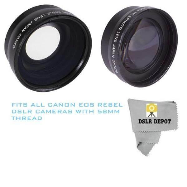 58 Mm Makro Sudut Lebar Lensa + 2.2X Optical Zoom Potret Jarak Jauh Lensa untuk Canon Reble Kamera DSLR-Intl