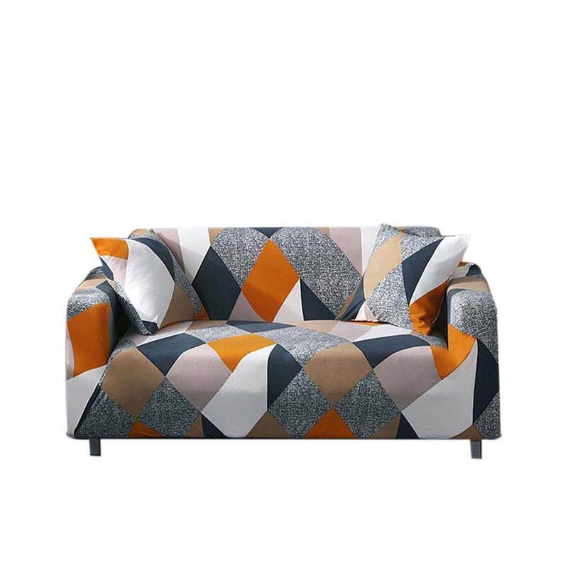 livejoy (2 Seater) Printed Stretch Elastic Sofa Cover Slipcovers Couch Furniture Protector - intl