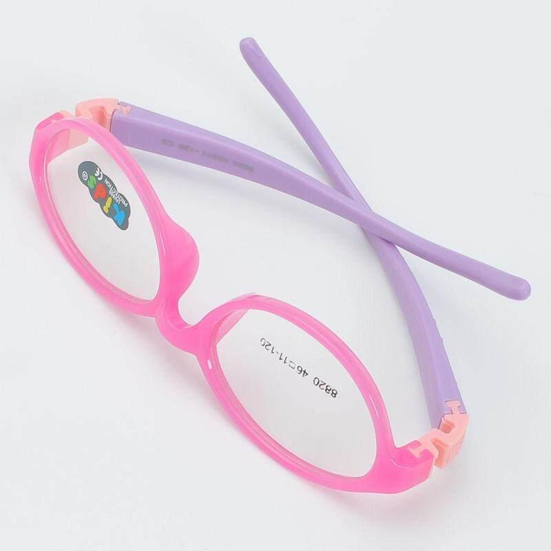 Giá bán Học sinh mới trẻ em cô gái cậu bé kính cận thị kính mắt kính quang học Kính mắt RX-C3 hồng đỏ khung chân tím