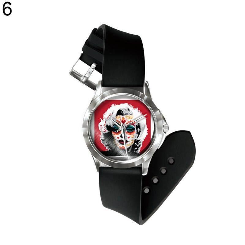 Phoenix B2C Ethnic Skull Boys Girls Festival Gift Band Number Free Quartz Wrist Watch Hand Decor (6#) Malaysia