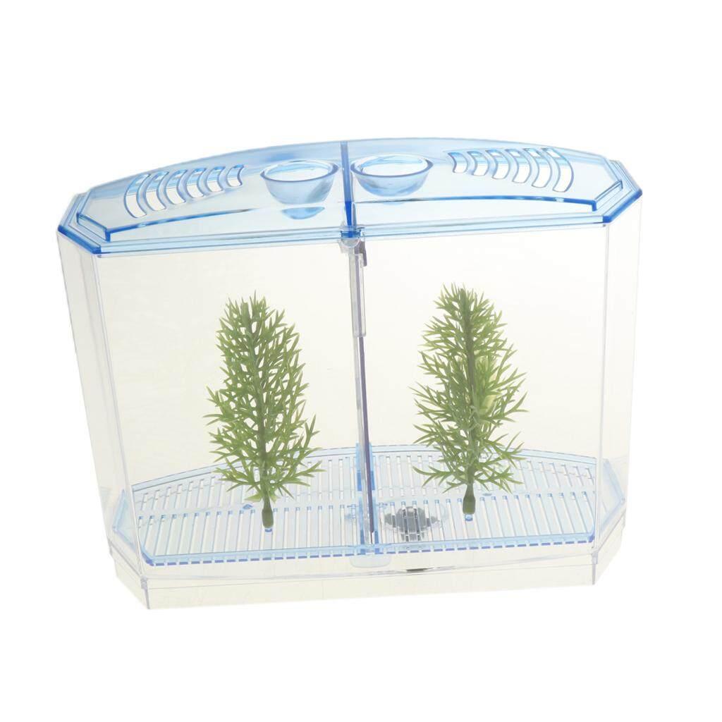 BolehDeals Clear Plastic Mini Fish Tank Aquarium Aquarium Mini Betta Fish Tank a Good Decoration for Living Room Bedroom Office
