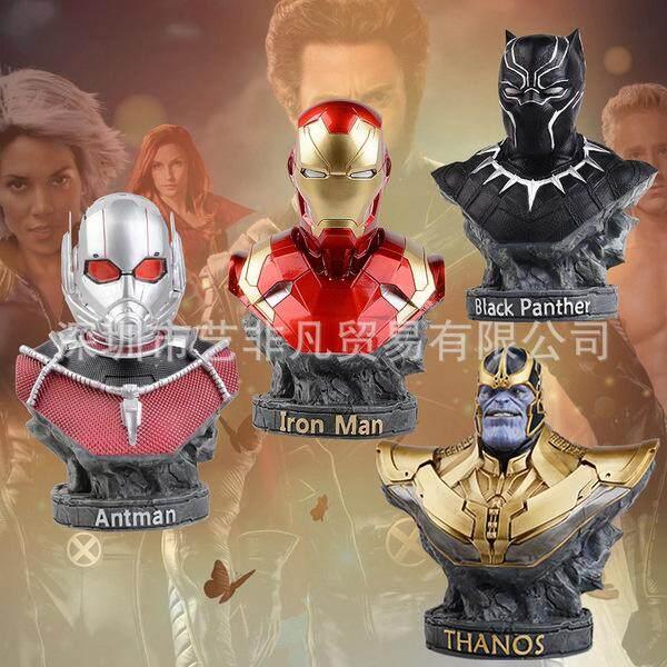 Marvel Avengers 3 Infinite War Around Iron Man Bust Fighter Black Panther Ants Hand Statue