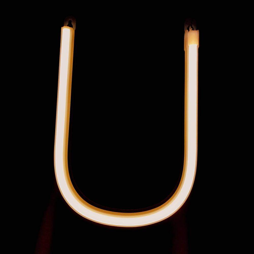 Letter Lamp Operated Powered U Shape Warm White for Home Party Decoration Cafe Shop Restaurant Wedding Function Lamp Shades