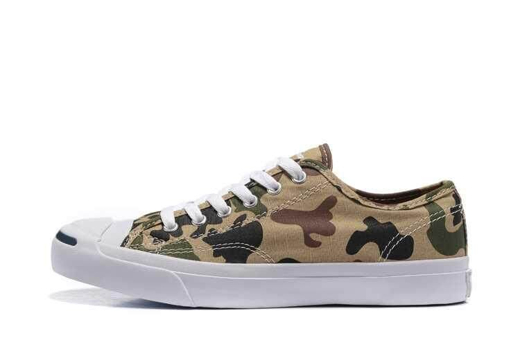 Discount! Hot Sale 2018 Unisex Convers Low Top Jack Purcell Women's and Men's Sneakers Canvas Casual Shoes Color: Camouflage - intl