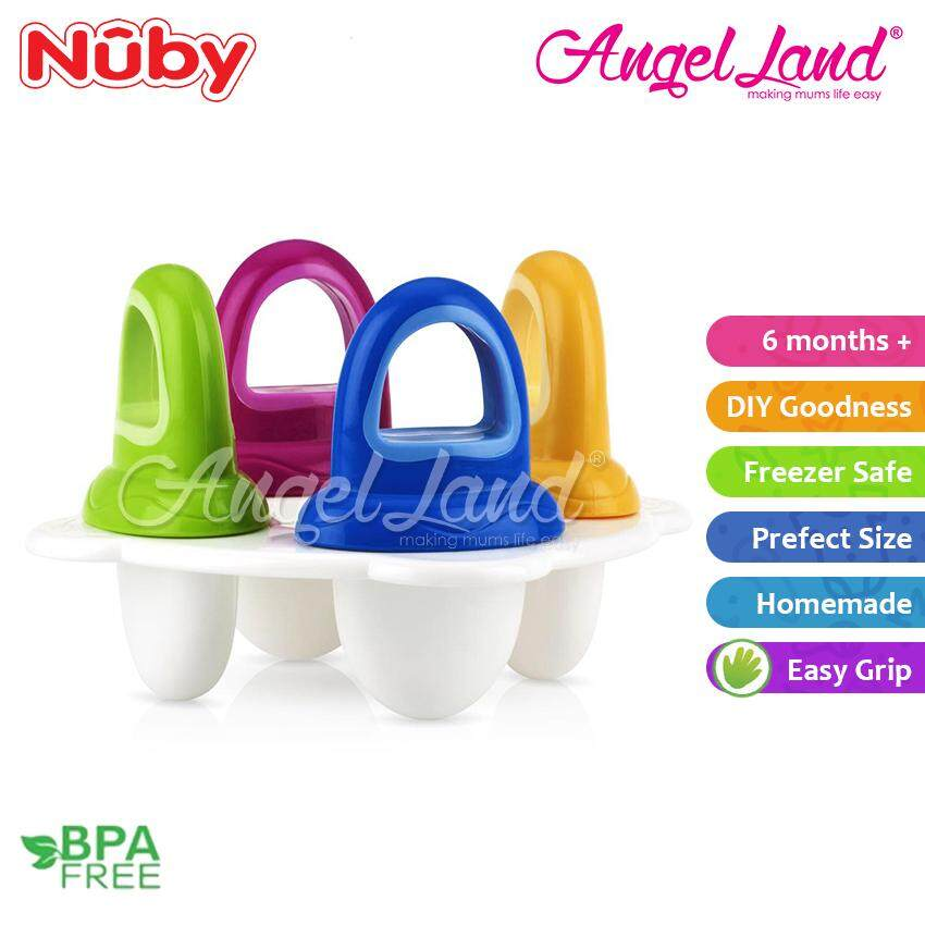 Nuby Garden Fresh Fresh Food Popsicle Tray 4pcs (6m+) NB5438