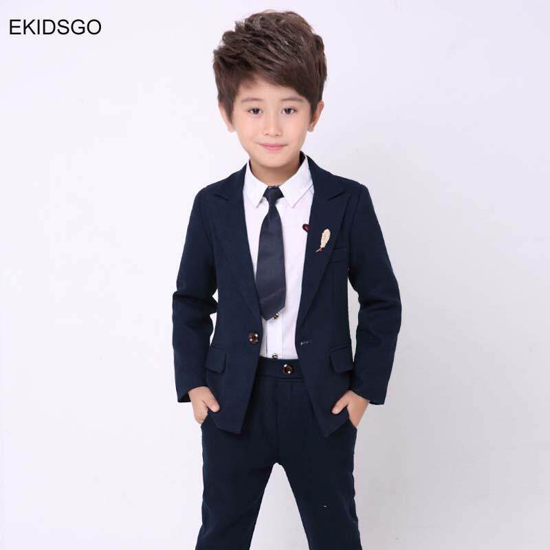 80909f0539a6b 2018 Kids Jacket+Pants 2 pieces/set Costume Big Boys Blazer Suits for  Weddings - intl