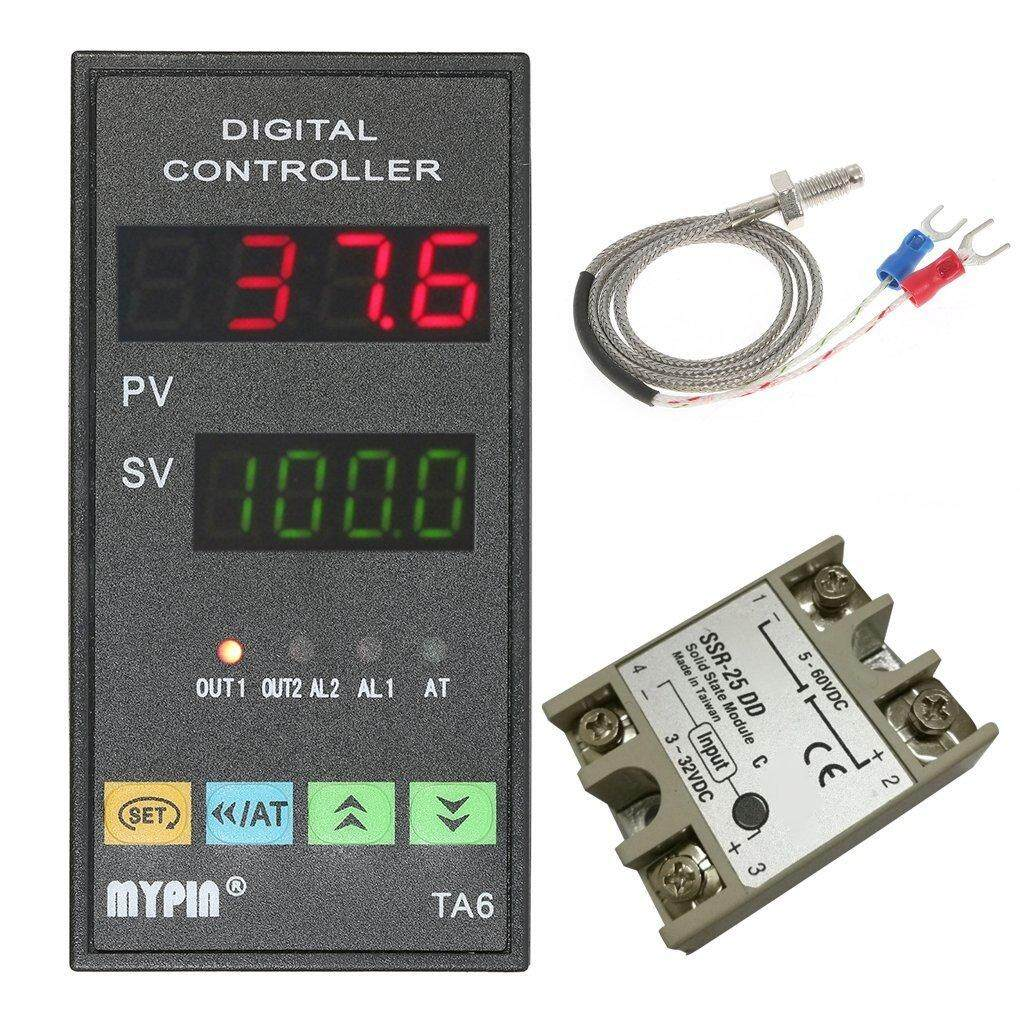 Fitur Oem Electrical Pid Temperature Controller 25a Ssr K Complete Package Thermocouple Probe Mypin Digital Ta6 Snr With Relay Din 1 8