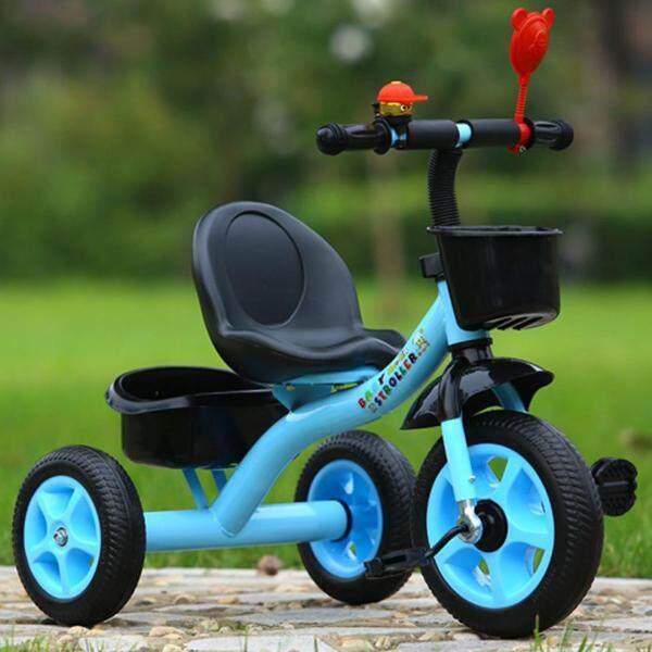 Phân phối Xe Đạp 3 Bánh Cho Trẻ Em Ba Bánh Xe Đạp Trẻ Em Trẻ Mới Biết Đi Trike Màu Hồng Màu Xanh Tím Màu Trắng-Xanh