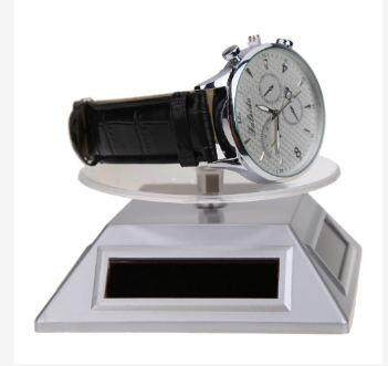 SOLAR SHOWCASE 360 ROTATING JEWELRY WATCH RING DISPLAY STAND