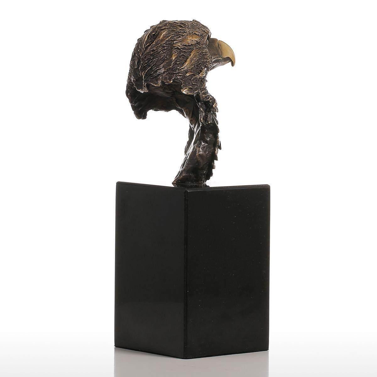 Tooarts Marble Base Elang Ekor Baji Buatan Tangan Patung Perunggu Modern Seni Dekorasi Rumah Patung Hadiah