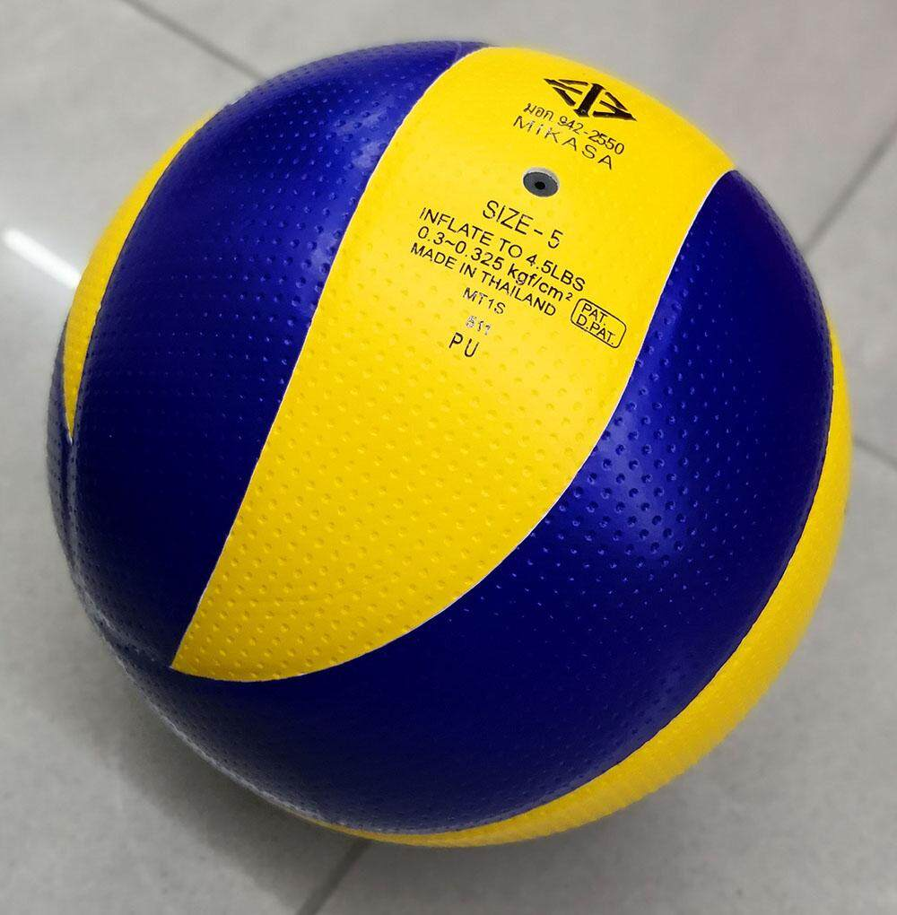 Features Mikasa Volleyball Mva300 Gold Yellow Blue With A Needle And Net Bola Voli Volley Carrying 4