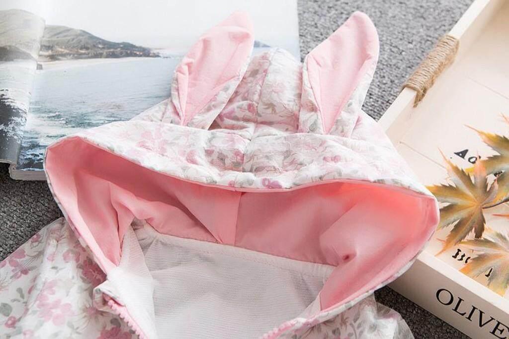 ... Aynshop Bayi Gadis-gadis Anak Laki-laki Kelinci Saku Bunga Telinga Panjang Berkerudung Ritsleting