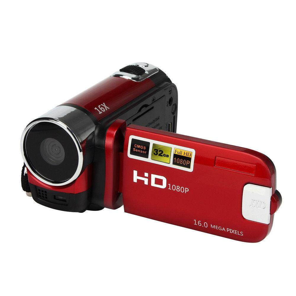 Camera Camcorders, 16mp High Definition Digital Video Camcorder 1080p 2.7 Inches Tft Lcd Screen 16x Zoom Camera Recorder Color:red Specification:american Standard By Sa Yanyi.