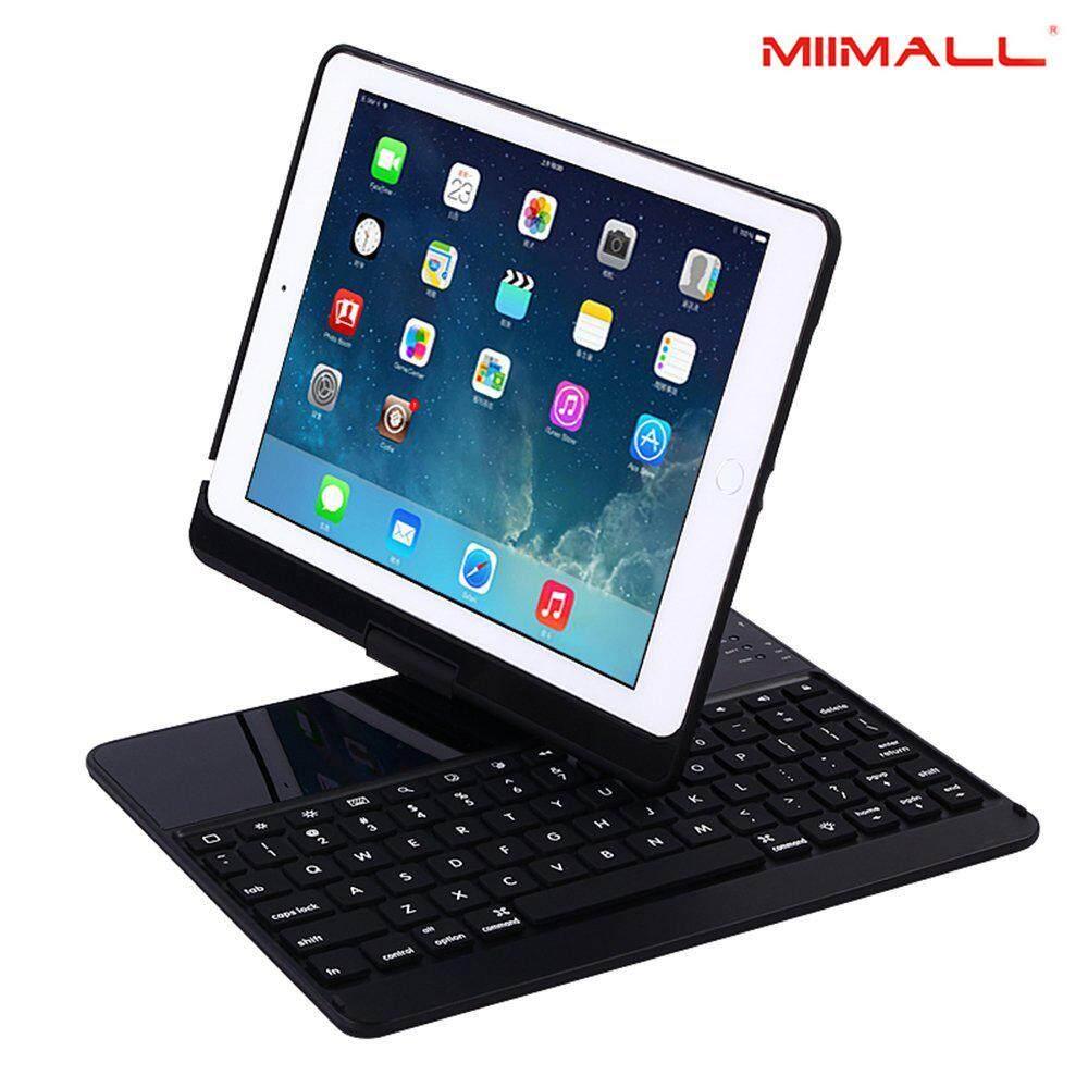 Miimall New iPad 9.7 2018 / iPad Pro 9.7 Keyboard Case, 360 Degree Rotate Stand