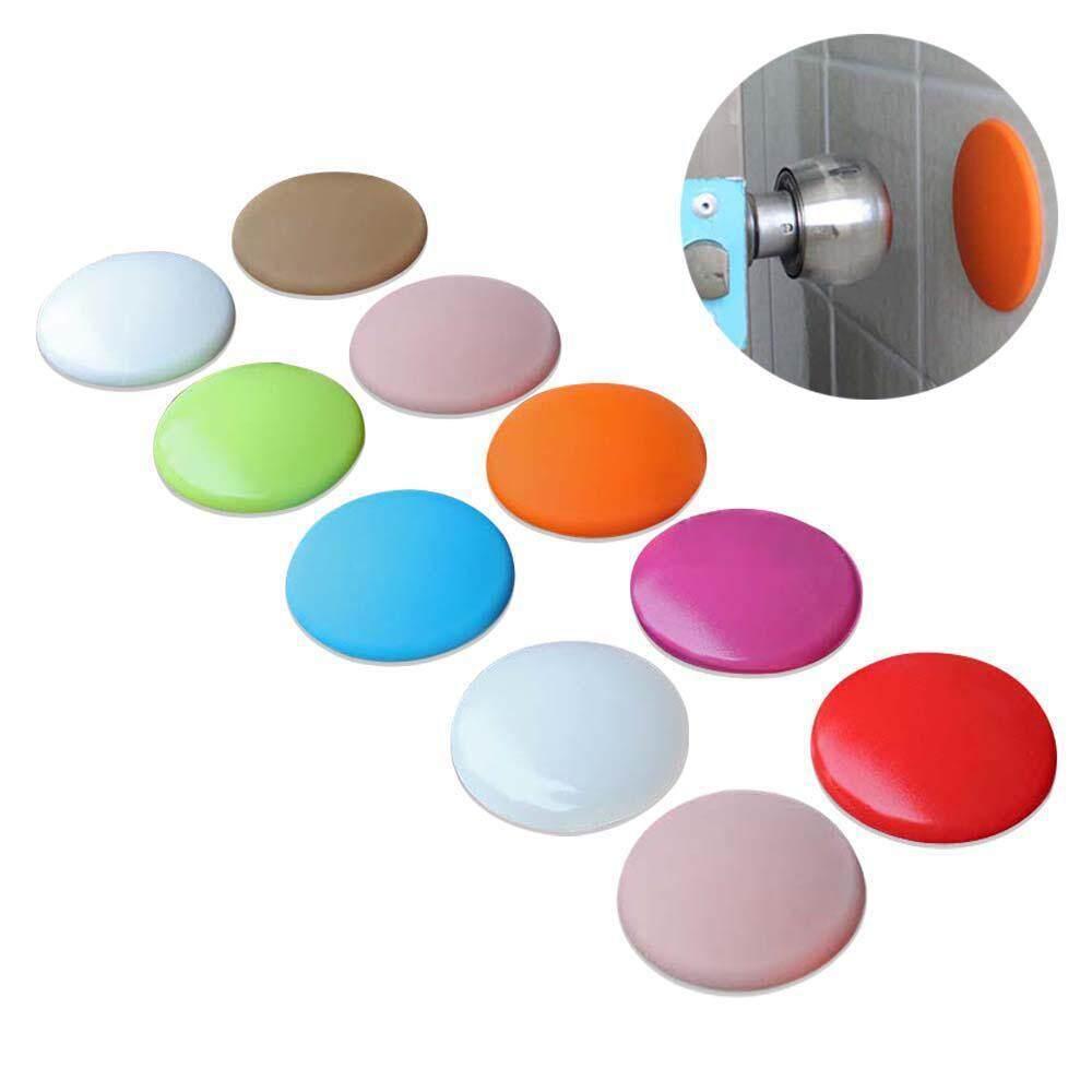 NiceEshop 10 Pcs Door Knob Wall Shield, Round Soft Rubber Wall Protector  Self Adhesive Door