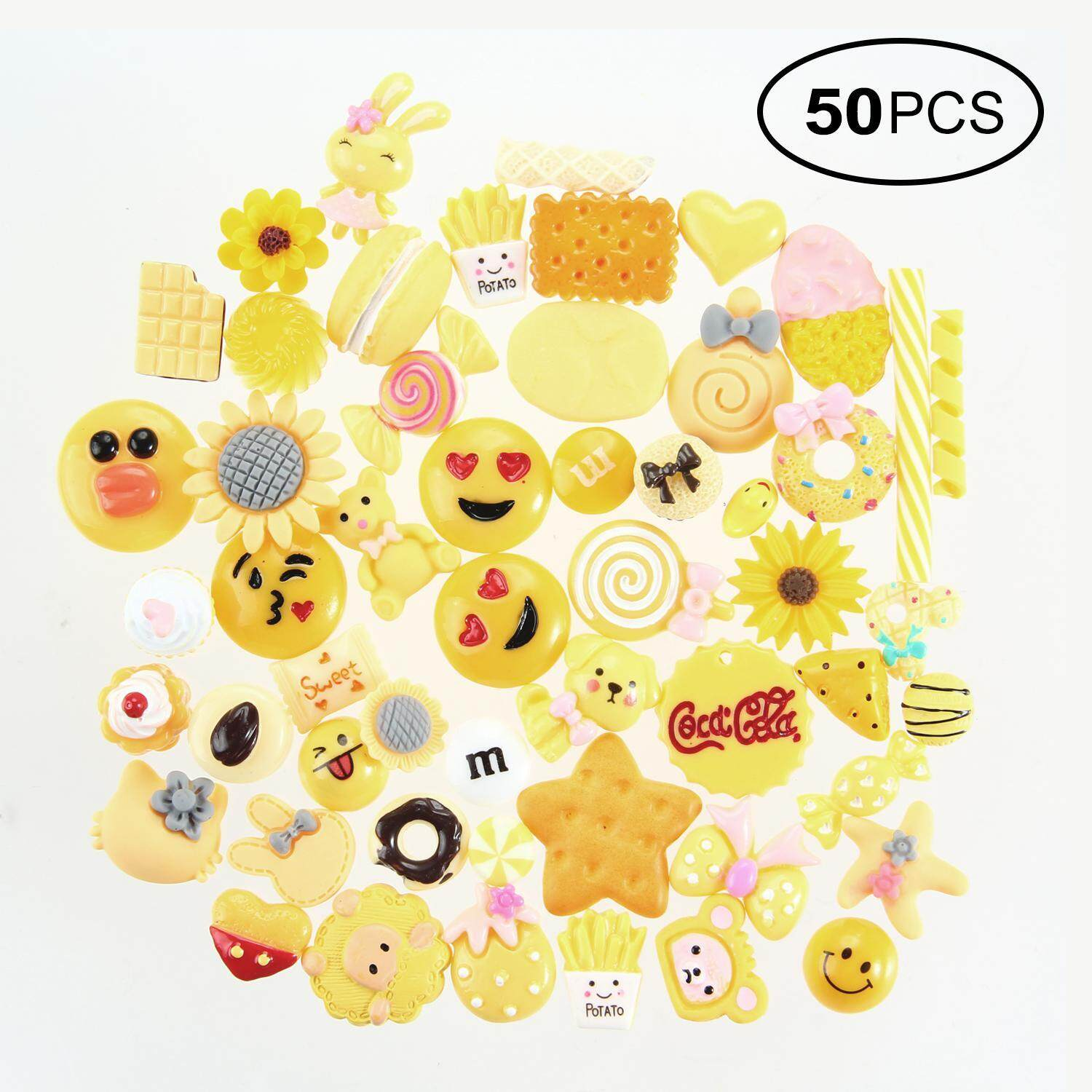 Aolvo 50 Pieces Slime Charms Mixed Candy Sweets Slime Beads Making Supplies For Scrapbooking Diy Crafts - Intl By Aolvo.