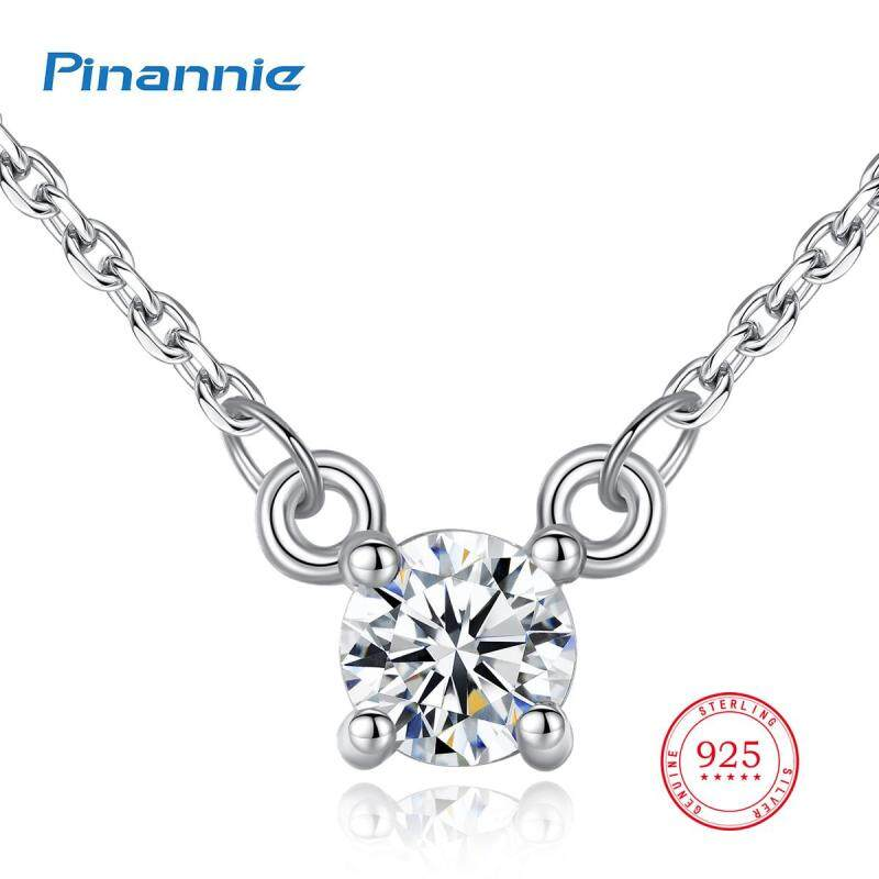 Pinannie AAA Grade Zircon Jewellery Genuine 925 Sterling Silver Necklaces For Women