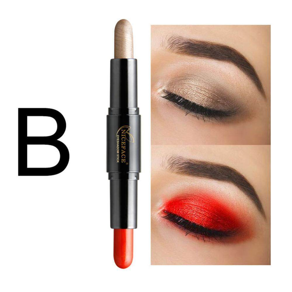 Double-Headed Pensil Eyeshadow Stabilo Tahan Lama Pemulas Mata Pena Makeup Kosmetik B-Intl