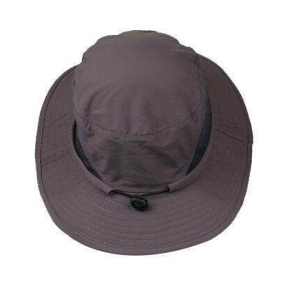 1620ef26 Bucket Hat Boonie Hunting Outdoor Wide Brim Camo Sun Cap Fishing Dark Gray