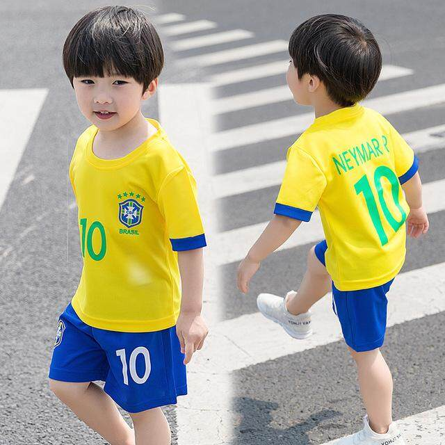 0543249884b Ocean 2PCS set Summer Boy Football Jerseys Children Soccer Suit Sports  Training Clothes Suits 1