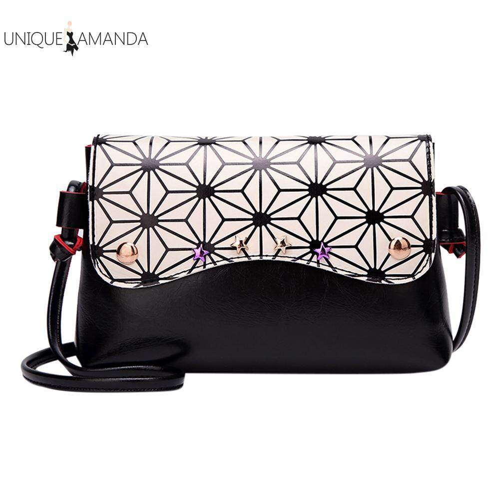 PU Leather Women Girls Stars Geometry Shoulder Bags Flap Mini Messenger Bag
