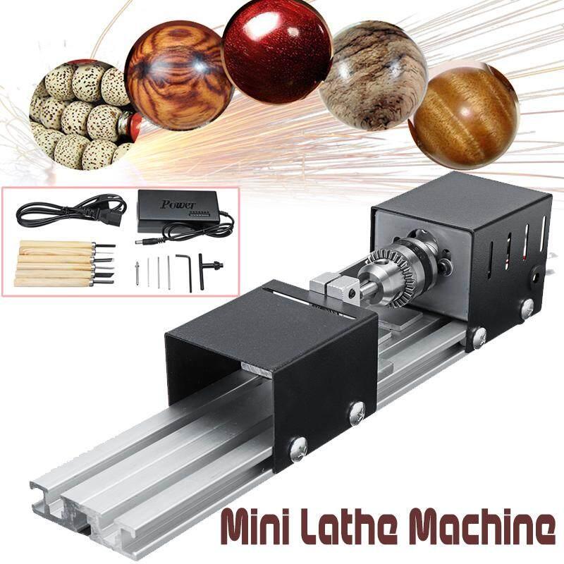 100W Mini Lathe Beads Machine Polisher Table Saw Multi Functional DIY Wood Lathe