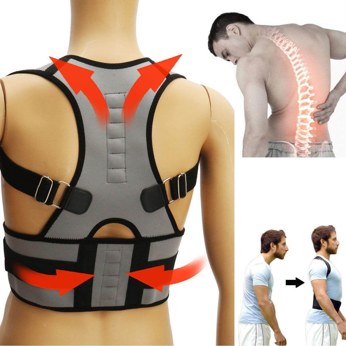 Adjustable Posture Corrector Back Support Shoulder Lumbar Brace Belt Men Women By Lands.
